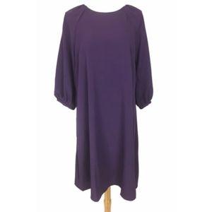 Lark & Ro Medium Tunic Dress Puff Elbow Sleeve